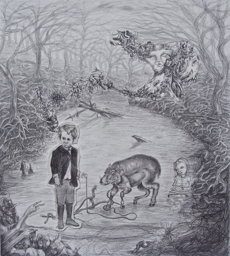 """Forest Song"" - Graphite on paper - 22 x 20""   (2009)"