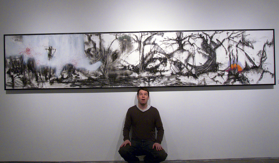 """Bayou Spirit"" - Charcoal, graphite, pastel, and ink on panel - 2 ½ x 14'   (2009)"
