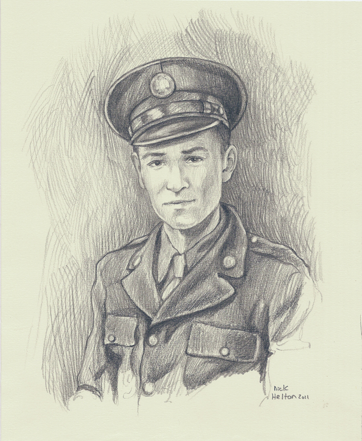 """Portrait of James Sneed"" - Graphite on paper - 11 x 81/2"" - (2011)"