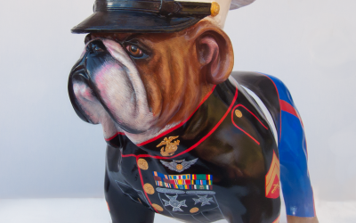 Marine Dress Blues Bulldog
