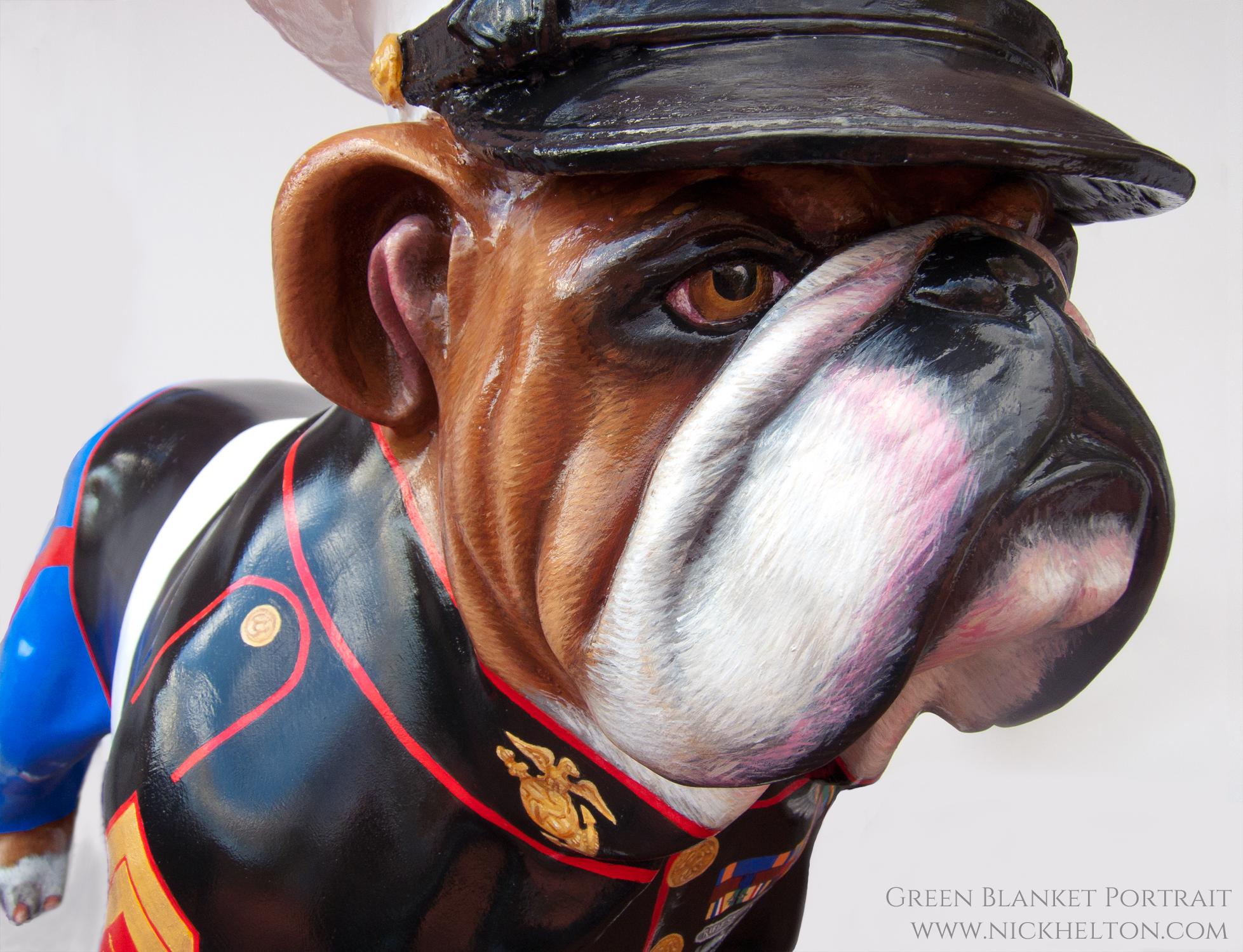 Marine Dress Blues Bulldog - Nick Helton