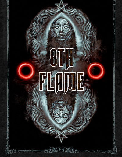 """""""8th Flame"""" - book cover"""