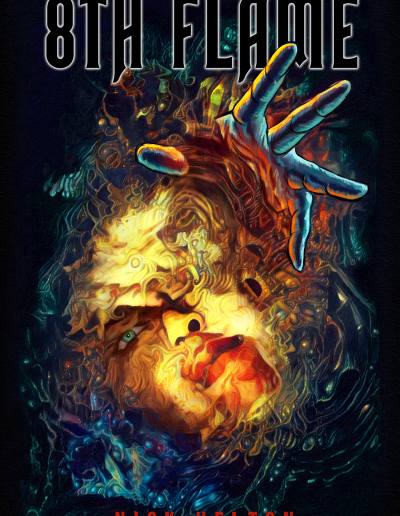 8th flame_book cover_surrealist_art_nick helton_comp